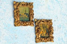 Florentine Pictures Venice Italy pair by IslandMarket on Etsy