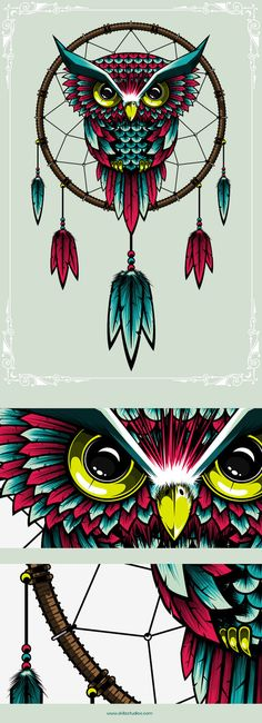 owl illustration created with pen tool in illustrator