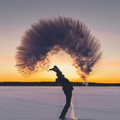 When boiling water hits -30 degrees celsius, Finland. Photo by @seffis #TourThePlanet