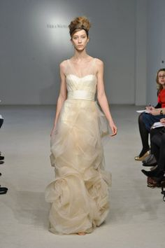 wedding dress. Vera Wang