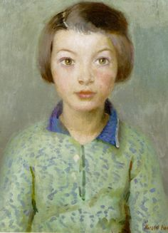 A Daughter of Newlyn by Harold Harvey (1874-1941)