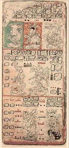 The Dresden Codex, an early Mayan codex
