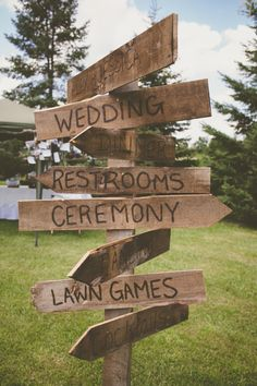 rustic wedding signs and decor ideas