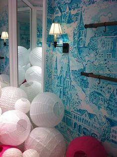 hand-painted toile walls by Lilly Pullitzer print team designer, Paige Smith.