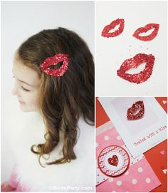 Sealed with a Glittered Kiss: DIY Valentine's Day Hair Accessory