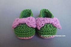 Bow baby bootie shoes
