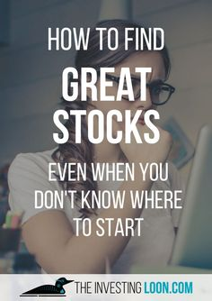 Finding Great Stocks can be a daunting task, I have 5 steps to make this search a lot easier, come in and learn it! #investing #money #finance
