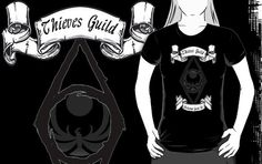 "Thieves Guild Skyrim ""Noctournal Guide Us"" shirt by thoxy96"