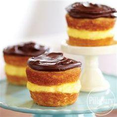 Boston Cream #Cupcakes from Pillsbury® Baking