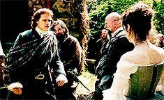 """Your servant, madam."" - Jamie #Outlander 1.07 The Wedding"
