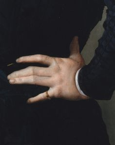 portrait of a young man with a book (detail) by agnolo bronzino, 1535-40