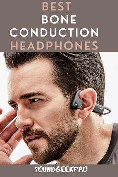 Bone conduction headphones.The perfect pair for serious athletes who need quality headphones that fit and are fully waterproof with an open-air design that offers awareness. #best bone conduction headphones #bone conduction headphones #running headphones #best running headphones #affordable headphones Best Running Headphones, Best Headphones, Wireless Headphones, Good Bones, Audiophile, Noise Cancelling, Listening To Music, Athletes, Fit