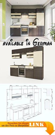 B008MUQJV4  Küche Sky 150cm Küchenzeile \/ Küchenblock variabel - küchenblock 260 cm
