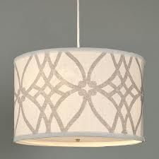 drum shade chandelier - Google Search    Like the print on the shade