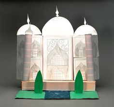 India's Taj Mahal is a work of architectural genius. It is also a monument to the love of a wealthy emperor for his queen. Construct a replica of this magnificent marble structure.