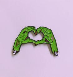 Zombie Love Enamel Pin by ZephyPins on Etsy
