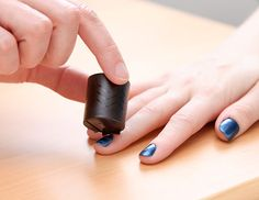 Magnetically reactive nail polish.  The lazy pinner's way to unique looking nails...