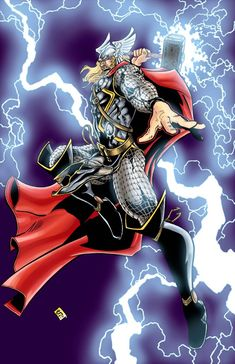 now proudly presented in technicolor, The Mighty Thor. The Mighty Thor Marvel And Dc Superheroes, Marvel Dc, Marvel Comics, Comic Art, Comic Books, The Mighty Thor, Super Hero Costumes, Spiderman, Avengers