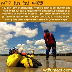 How to survive sinking in a quicksand - WTF fun facts #InterestingStuff