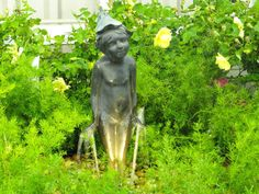 A beautiful Brass Fountain atop a 'Disappearing Fountain' basin. Basin, Fountain, Garden Sculpture, Outdoor Decor, Beautiful, Water Fountains