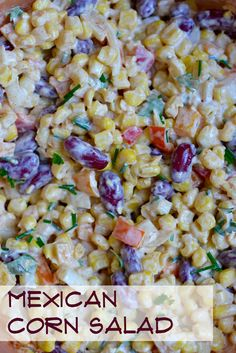 Mexican Corn Salad this cool and creamy recipe is a perfect dinner side for your family, and a great addition to a picnic, potluck or cookout!
