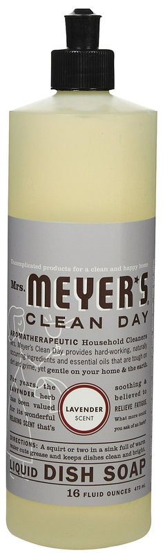 So she's going to make everything in our apartment smell like Meyer's  Mrs. Meyer's Clean Day Liquid Dish Soap, Lavender