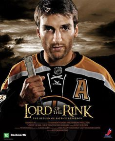 Patrice Bergeron...Lord of the Rink! Haha! Rooting for the Boston Bruins!!