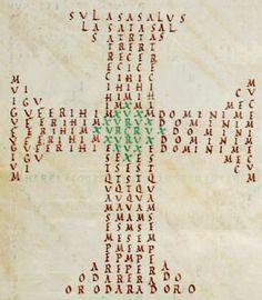 """""""De Signaculo Sanctae Crucis"""" (s.VI d.C.) de Venantius Fortunatus. #Poesiavisual"""
