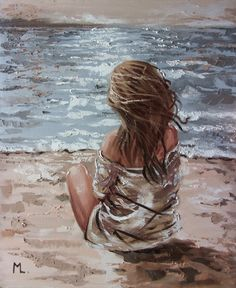 Monika Luniak - Paintings for Sale - Photography, Landscape photography, Photography tips Paintings For Sale, Original Paintings, Magical Paintings, Art Sketches, Art Drawings, Sky Sea, Oil Painting On Canvas, Sand Painting, Beach Art