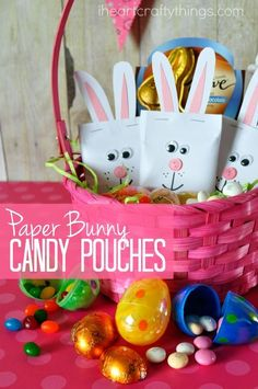 Get crafty this Easter holiday by making these DIY Easter Bunny candy pouches. They add the perfect personal touch and cuteness to any Easter basket and are sure to make somebody's Easter sweeter. #EasterSweets ad