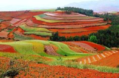 Dongchuan, Red Land in China