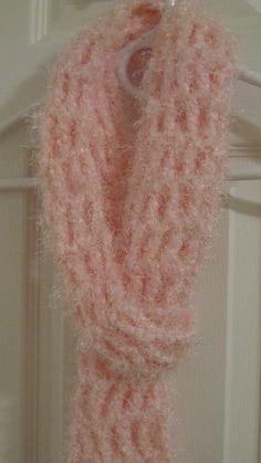 My handmade pink scarf
