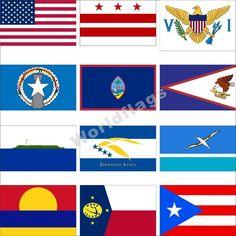 US Territory Flag USA Virgin Samoa Johnston Midway Atoll Navassa Island Navassa Island, Midway Atoll, Oregon Washington, Palmyra, Garden Decor Items, Guam, Virgin Islands, Puerto Rico, North America