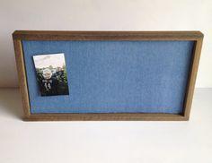Oak Framed Denim Pin Board with Vintage Look by UWoodLikeIt, $26.00