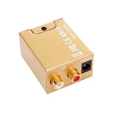 Upgrades Gold Digital Coaxial Optical Fiber Audio Output Signal To Analog L/R RCA Audio Converter With 3.5mm Jack Output -  Buy online Upgrades Gold Digital Coaxial Optical Fiber Audio Output Signal to Analog L/R RCA Audio Converter With 3.5mm Jack Output only US $14.30 US $10.73. We provide the discount of finest and low cost which integrated super save shipping for Upgrades Gold Digital Coaxial Optical Fiber Audio Output Signal to Analog L/R RCA Audio Converter With 3.5mm Jack Output or…
