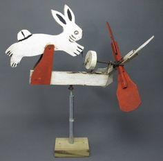 Painted Rabbit Whirligig