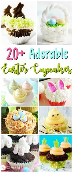Find the perfect party treat from this collection of 20 beautiful Easter Cupcakes! Fun holiday dessert recipes that are surprisingly easy to bake!