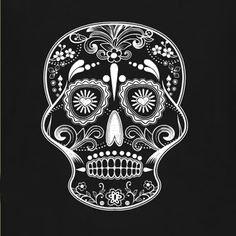 Day of the Dead Skull for Halloween t-shirts. Add text and choose your t-shirt product for a custom t-shirt design of your own.