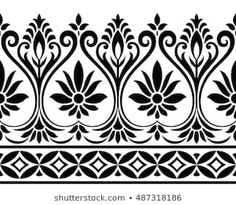 Explore high-quality, royalty-free stock images and photos by NAVINBHAI BABUBHAI PATEL available for purchase at Shutterstock. Textile Pattern Design, Textile Patterns, Indian Patterns, Border Embroidery Designs, Hand Embroidery Patterns, Lace Tattoo Design, Lace Design, Crochet Bedspread Pattern, Floral Drawing