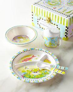 Frog Toddler Dinnerware Set by MacKenzie-Childs at Neiman Marcus.