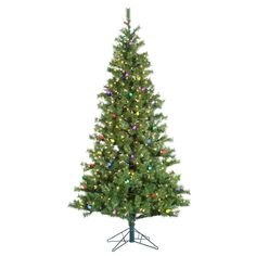 Kurt Adler 6.5' Pre-Lit Pine Tree with C7 Multi-Colored Lights *** Hurry! Check out this great sales : Christmas Trees