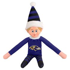 Forever Collectibles Baltimore Ravens NFL 14-inch Team Elf (Baltimore Ravens)
