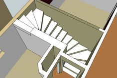 I have an area over our stairs that needs to be painted: walls, the trim, and ceiling. Spiral Staircase Plan, Stair Plan, Loft Staircase, Staircase Railings, Railing Design, Staircase Design, L Shaped Stairs, Winder Stairs, Stair Dimensions