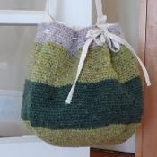 Round Crocheted Project Bag - via @Craftsy