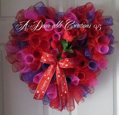 Heart Shaped Valentine/Roses/ Spiral Deco by ADoorableCreations05