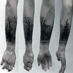 Wrist Forest Male Tattoo