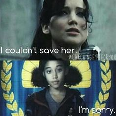 "THIS LINE. with ""Rue's Farewell"" playing. I can't even... :(---I noticed it was the same music! I cried so hard"