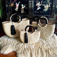 Updates From Infinityloveco On Etsy - Diy Crafts Yarn Bag, Craft Bags, Basket Bag, Beaded Bags, Crochet Purses, Knitted Bags, Luxury Bags, Handmade Bags, Rattan