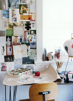Can you spot the Vitra Akari 3AD Floor Lamp in this colourful office? http://www.nest.co.uk/search/vitra-akari-3ad-floor-lamp