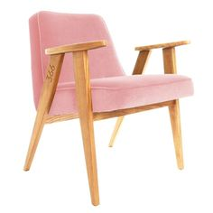 366 Easy Chair - Velvet Pink by 366 Concept Design&LifeStyle made in Poland on CROWDYHOUSE